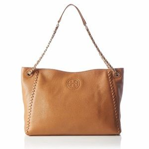 Tory Burch Leather Convertible Marion Slouchy Tote